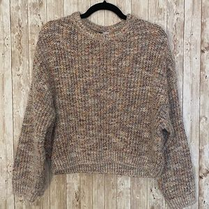 Multi Colour Knit Sweater Fall Winter Cropped H&M